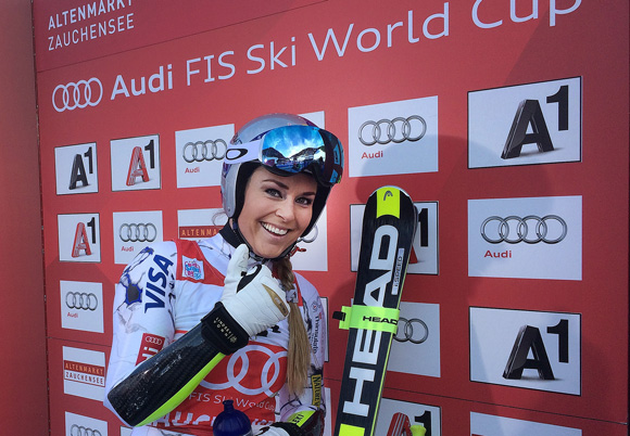 Lindsey Vonn Chalks Up World Cup Victory No. 73