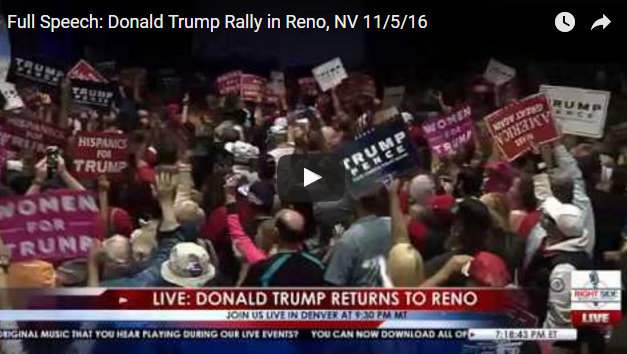 Security Scare Briefly Interrupts Trump Rally In Reno Before Colorado Event