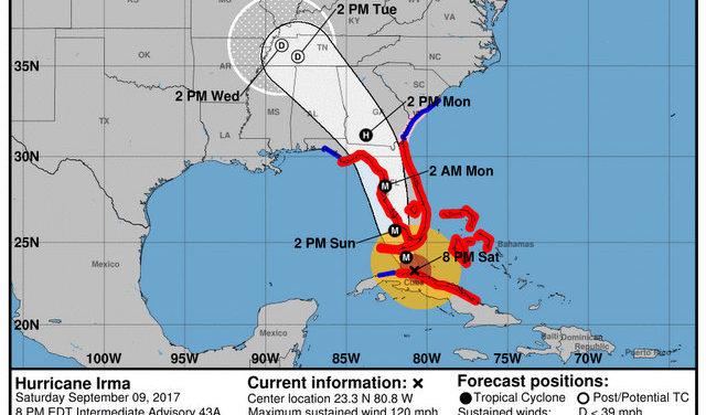 Irma's Wrath Takes Aim at Florida Gulf Coast of as Hurricane Winds Officially Reach the Keys