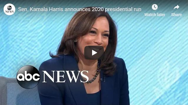 Senator Kamala Harris Announces White House Run