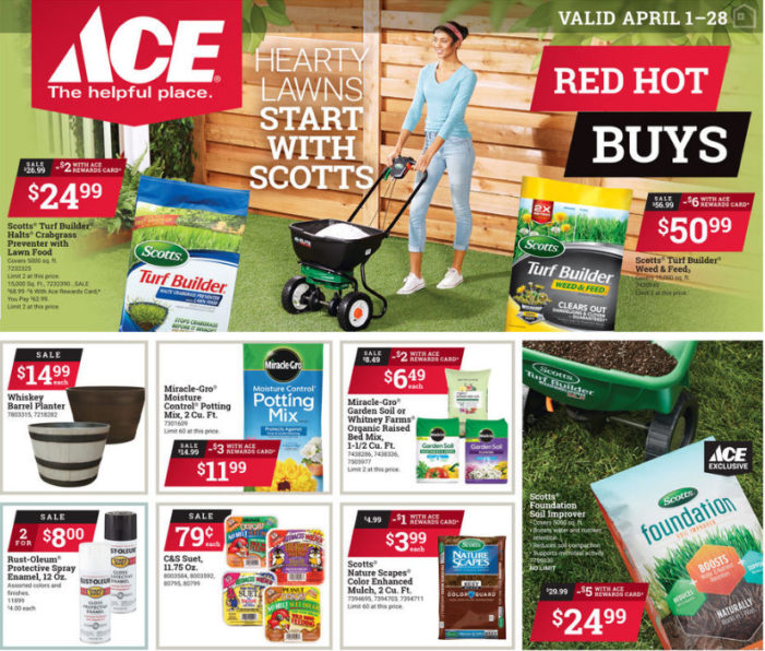 Shop Local for April Red Hot Buys from Ace Hardware